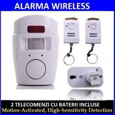 Alarma de casa Wireless cu senzor de miscare si 2 telecomenzi - Sisteme de alarma