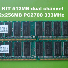 Memorie RAM PC DDR1 512MB KIT (2x256MB) PC2700 333MHz Samsung, Dual channel
