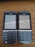 Nokia Asha 300  / original / carcasa originala / aspect nota 9.5, Negru, 8GB, Neblocat