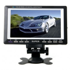 LICHIDARE STOC! TELEVIZOR/MONITOR PORTABIL 7, 8 INCH, PLAYER USB INCLUS, ANTENA. - TV Auto