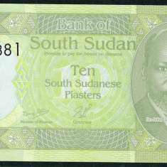 Sudanul de Sud ( South Sudan ) - 10 Piastri 2011 - UNC - bancnota africa