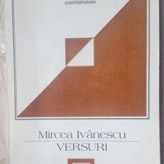 MIRCEA IVANESCU - VERSURI, 1968-1973 (ed. 1996/postf. ION BOGDAN LEFTER/340 pag) - Carte poezie