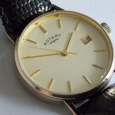 Ceas de aur 9k Rotary -quartz - Ceas barbatesc