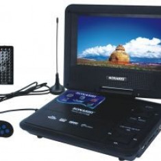 PROMO! TELEVIZOR PORTABIL 3D, USB STICK, DVD, RADIO, CONSOLA JOCURI, 9.8 INCH, SIGILAT - Televizor LED, Sub 48 cm, HD Ready, USB: 1, Intrare RF: 1, Scart: 1