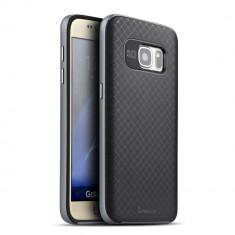 HUSA IPAKY SAMSUNG GALAXY S7 - BONUS FOLIE ECRAN - Husa Telefon Samsung, Gri, Gel TPU