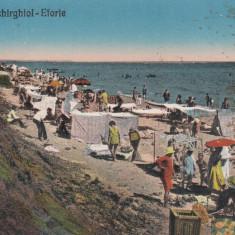 TECHIRGHIOL EFORIE PLAJA NOUA CIRCULATA 1930 - Carte Postala Dobrogea dupa 1918, Printata