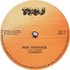 Lovindeer - Man shortage (1986, TSOJ) disc vinil Maxi Single reggae - Muzica Reggae