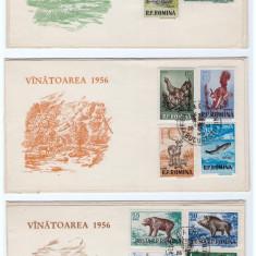 FDC-VANATOAREA-PIESA FILATELICA DEOSEBITA, RARITATE!!!!!!, Romania de la 1950, An: 1955, Fauna