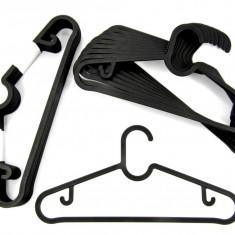 Set 30 de umerase pentru haine – rezistente - negre - Noi - accesoriu mobila