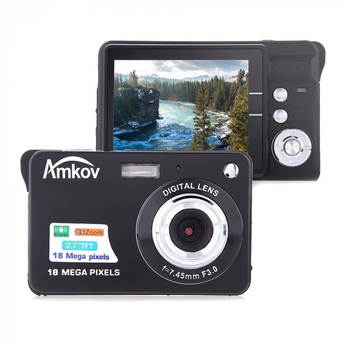 Resigilat : Camera foto digitala PNI Amkov CDC3 18MP display LCD 2.7 inch