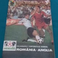 PROGRAM FOTBAL ROMÂNIA-ANGLIA/ 1 MAI 1985 - Program meci