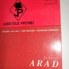 Judetul Arad colectia judetele patriei cu harta - Carte Geografie