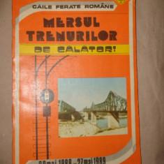 Mersul trenurilor de calatori 29 mai 1988-27mai 1989 / 222pagini