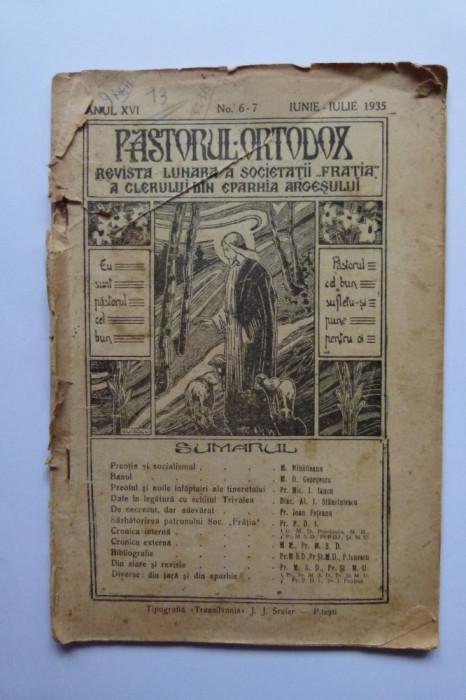 REVISTA PASTORUL ORTODOX, EPARHIA ARGESULUI, PITESTI, 1935