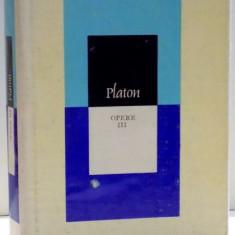 PLATON OPERE VOLUMUL 3, 1978 - Carte Psihologie