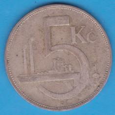 (1) MONEDA DIN ARGINT CEHOSLOVACIA - 5 KORUN 1929, Europa