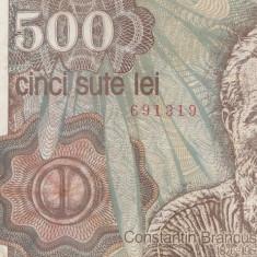 Romania 500 Lei 1991 - Bancnota romaneasca