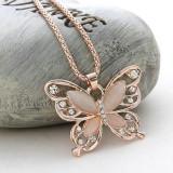 Lantisor, colier, pandativ Fluturi Fashion, cadou, auriu