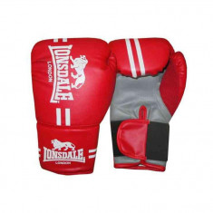 Oferta! Manusi box Lonsdale Contender Red originale - marimea Junior S/M L/XL