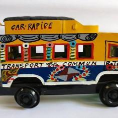 Autobuz tabla jucarie masina handmade Africa Senegal Fair Trade TERANGA - Masinuta
