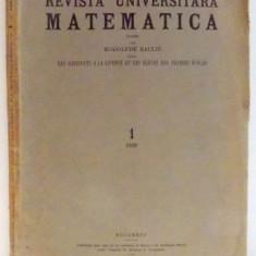 REVISTA UNIVERSITARA MATEMATICA par RODOLPHE RACLIS, 1929 - Carte Matematica