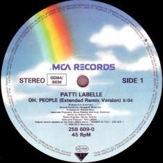 Patti LaBelle - Oh, people (1986, MCA) disc vinil Maxi Single swing/soul - Muzica R&B