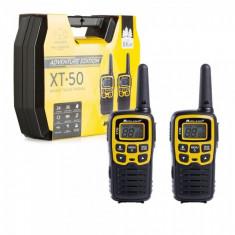 Statie radio PMR portabila Midland XT50 ADVENTURE set cu 2 buc. galben cod C1178.01