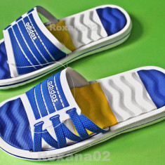 SLAPI ADIDAS. Papuci piscina Adidas 40, 41, 42, 43, 44, 45 - Papuci barbati, Culoare: Albastru, Bleumarin, Negru