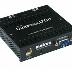 Placa video Matrox Adaptor grafic DualHead2Go, DualAnalogEdition, 3xHD15 (1 input, 2 output)USB - Placa video PC