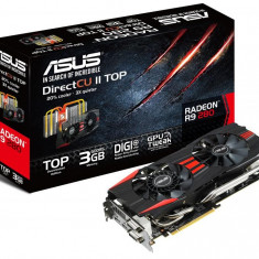 Placa video ASUS AMD R9280-DCT-3GD5, R9 280, PCI-E, 3072MB GDDR5, 384 bit, GPU Boost Clock : 980 MHz, 5200 MHz, 2*DVI, HDMI, DP, DirectCU II, bulk - Placa video PC Asus, PCI Express, 3 GB, Ati