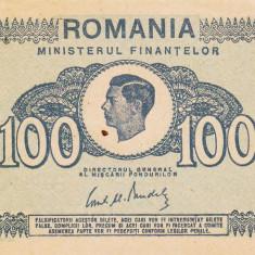 ROMANIA 100 lei 1945 XF+!!! - Bancnota romaneasca