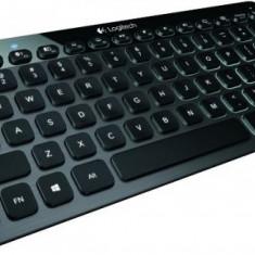 Tastatura Logitech K810 iluminata Bluetooth, neagra, Fara fir, Tastatura iluminata