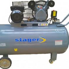 STAGER Compresor aer HM-V-0.25/250L, 250L, 8bar - Compresor electric