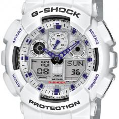 Ceas original Casio G-Shock GA-100A-7AER - Ceas barbatesc Casio, Sport