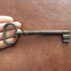 Cheie veche deosebita model mare pentru usa / poarta !!! - Metal/Fonta