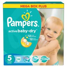 PAMPERS Scutece Active Baby 5 Junior Mega Box Pack 126 buc - Scutece unica folosinta copii