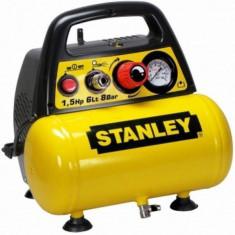 Stanley Compresor de aer fara ulei, DN200/8/6, 8 Bar, 6 l - Compresor electric