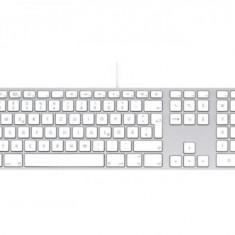 Tastatura Apple MB110Z/B USB, alba, layout International English, Cu fir