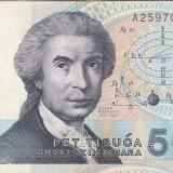 CROATIA 5.000 dinara 1992 VF!!!