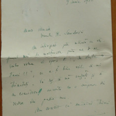 Scrisoare olografa a lui Dimitrie Gusti catre Henric Sanielevici , 4 pag. , 1936