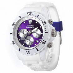 Ceas original Detomaso Colorato Chrono White/Violet - Ceas barbatesc Detomaso, Sport
