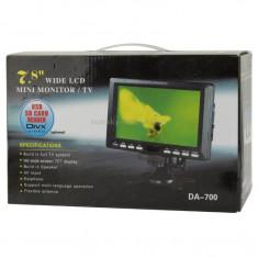 Televizor auto 12V si 220V 18 cm Color, adaptor bricheta tir rulota camion - Televizor LCD, Sub 48 cm, HD Ready, USB: 1