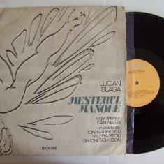Disc vinil LUCIAN BLAGA - MESTERUL MANOLE (drama in 5 acte) (16 - EXE 0480) - Muzica soundtrack electrecord