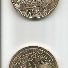 No(5)4monede-50 bani-10 ANI DE LA DENOMINARE,V VLAICU,II. HUNEDOARA,M cel BATRAN