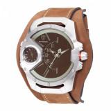 Ceas original Detomaso Steppenwolf Brown Glass Silver/Brown - Ceas barbatesc Detomaso, Casual