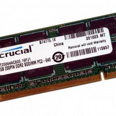 Crucial CT25664AC800, SODIMM, 2 GB DDR2, 800 MHz, CL 6, - Memorie RAM laptop