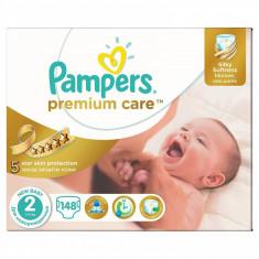 PAMPERS Scutece Pampers Premium Care 2 81553052, New Baby Mega Box, 148 buc, 3-6 kg - Scutece unica folosinta copii
