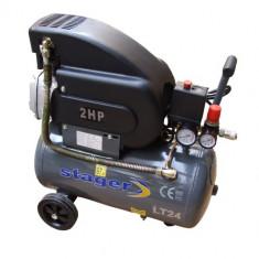 STAGER Compresor aer HM2024B, 24L, 8Bar - Compresor electric