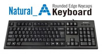 Tastatura A4Tech KRS-85, USB, neagra foto
