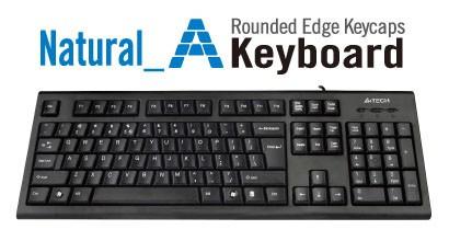 Tastatura A4Tech KRS-85, USB, neagra foto mare